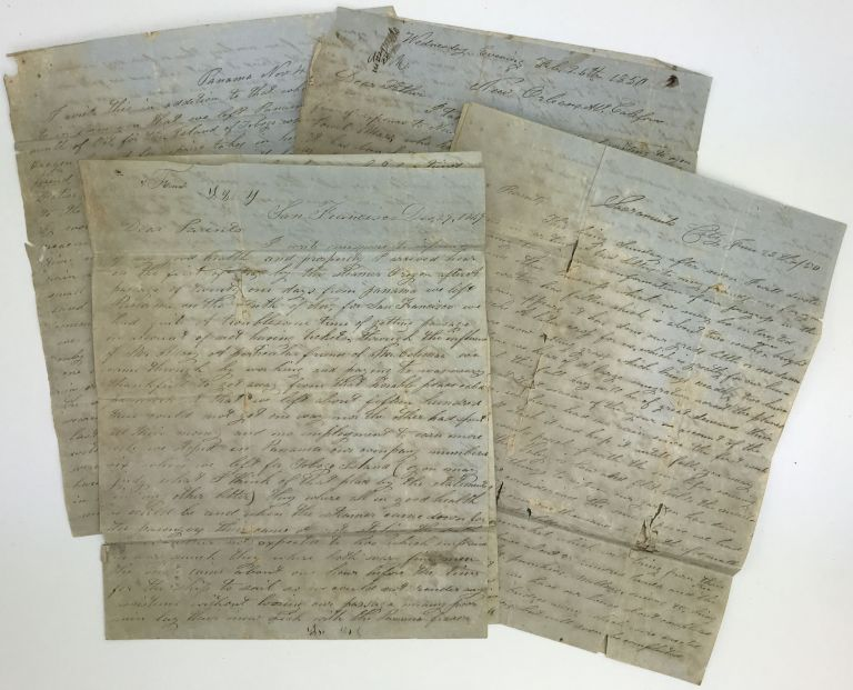 [Group of Four Letters Written by California Emigrant Samuel McCullough During His Voyage and the Establishment of His Farm Near Sacramento]. Samuel McCullough.