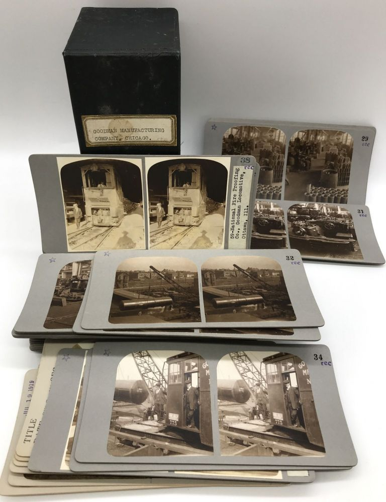 [Group of Forty-five Stereoviews of Industry and Manufacturing at the Goodman Manufacturing Company in Chicago]. Goodman Manufacturing Company.