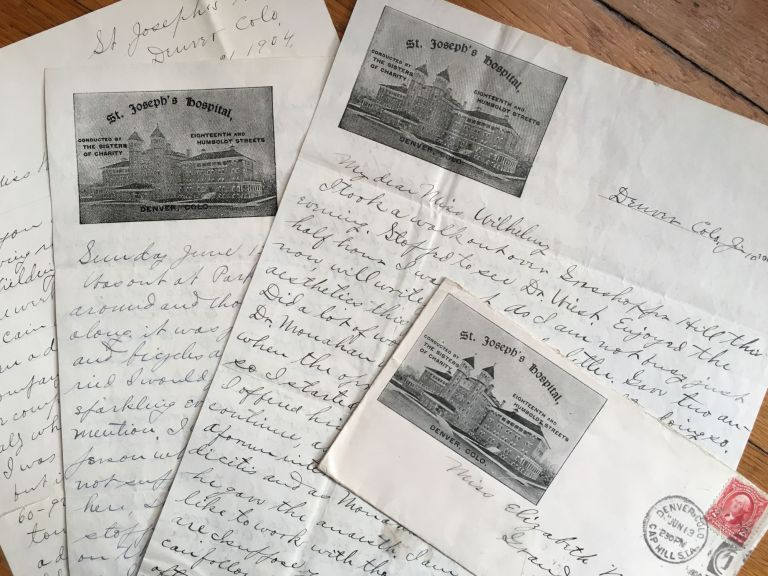 [Correspondence of Harry Irwin, Medical Intern at a Denver Hospital, to Student Elizabeth Wilhelmy, During 1904]. Colorado, Harry Irwin.