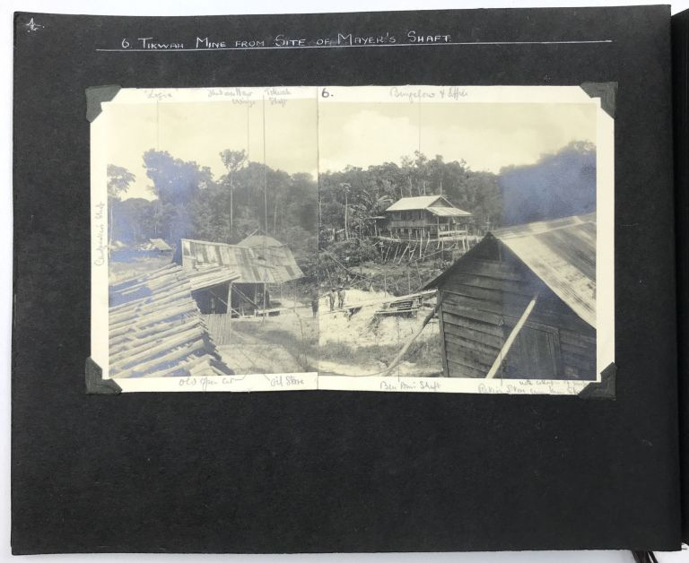 [Two Photograph Albums Documenting the Tikwah Mining Corporation's Activities in British Guiana]. Guiana, Tikwah Mining Corporation.