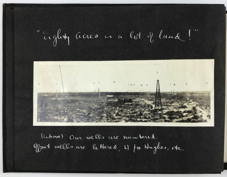 These Pictures Were Taken in August, 1923, on the 80 Acre Lease of the Rio Grande Petroleum Corporation (of Houston Texas) Aviator's Pool, Mirando City, Webb County, Texas [manuscript title]. Texas, Oil.