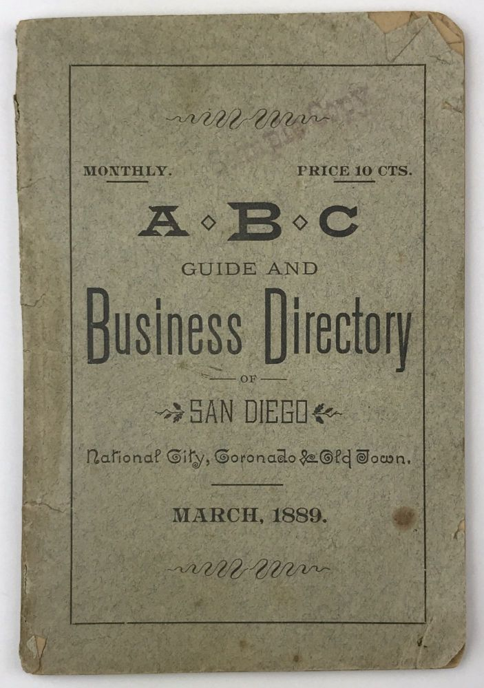 ABC Guide and Business Directory of San Diego, National City, Coronado, & Old Town. California, Directories.