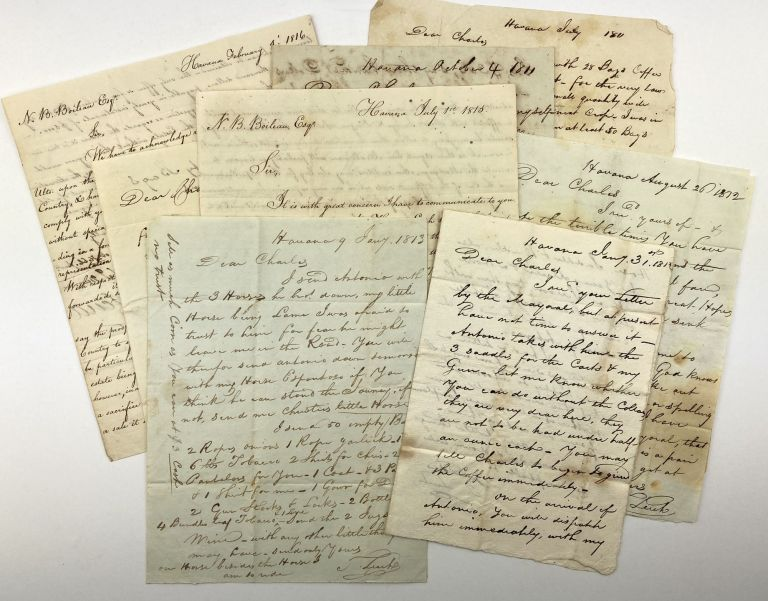 [Archive of Letters from Coffee Planter Thomas Leech Concerning Business Affairs in Cuba]. Thomas Leech.