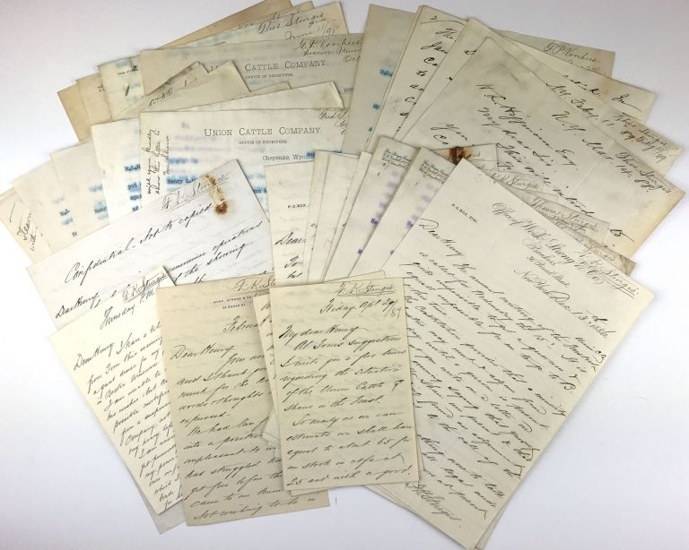 [Archive of Nineteen Letters Related to the Union Cattle Company of Wyoming, Written by Principal Officers to Henry Lee Higginson of Boston]. Thomas. Sturgis Sturgis, Frank Knight.