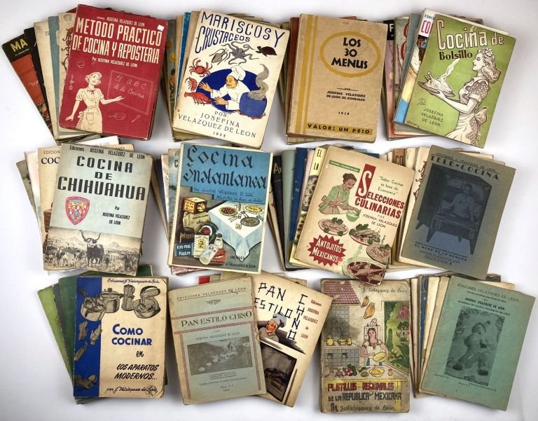 [Large Collection of Cook Books Published by the Premier Celebrity Chef of Mexico]. Cook Books, Josefina Velazquez de Leon.