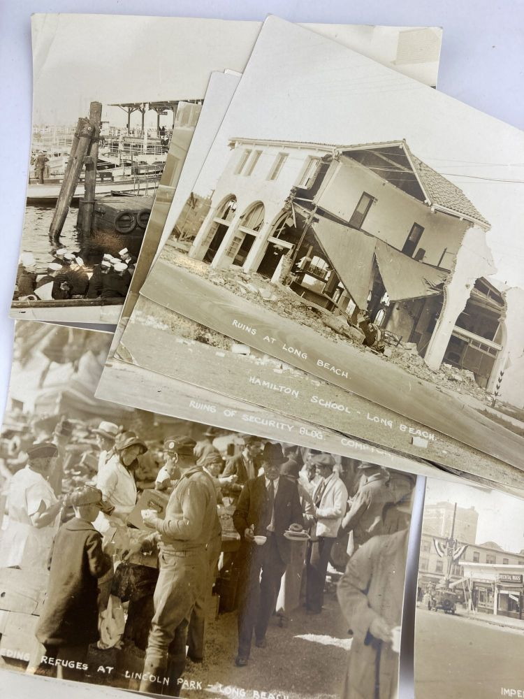 [Small Collection of Photographs of the Long Beach Earthquake of 1933]. California, Western Photographica.