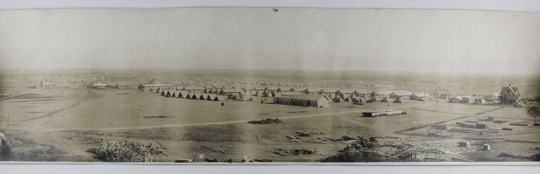 Bird's Eye View. Camp Bowie, Fort Worth Tex. October 1917. Texas, World War I.