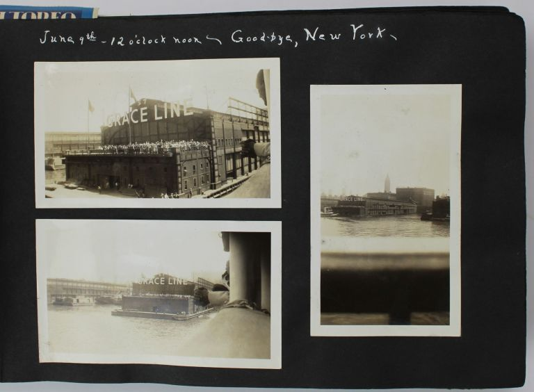 [Vernacular Photograph Album Documenting a 1939 Steamer Trip from New York to South America and the Caribbean]. Travel, Photography.