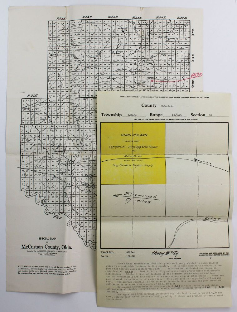 Special Map of McCurtain County, Okla. [with plat map]. Oklahoma.