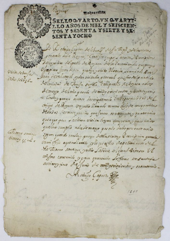[Manuscript Document Concerning the Indian Census in New Granada]. Colombia, Native Americans.