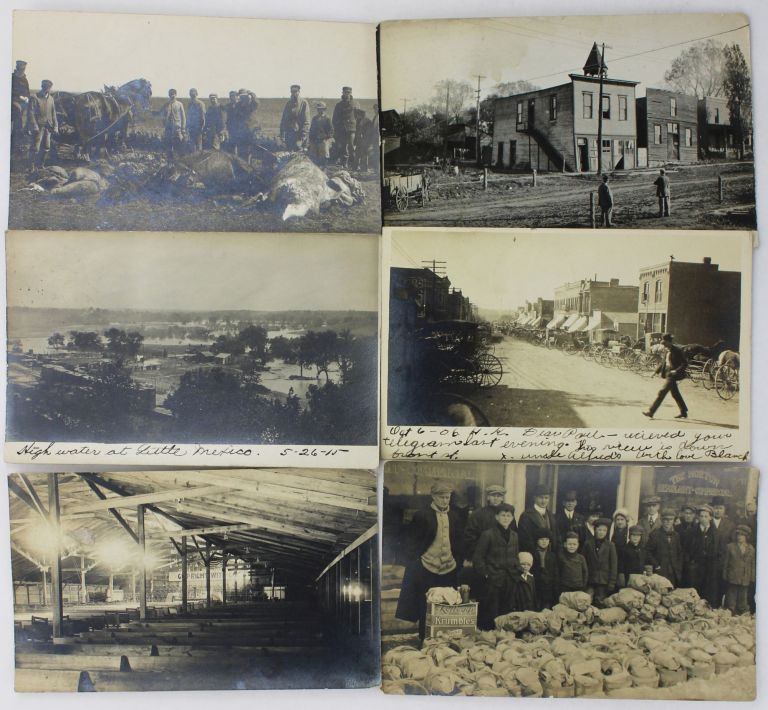 [Group of Twenty-Eight Real Photo Postcards of Horton, Kansas, and Surrounds, Taken by a Revival Organizer During the 1910s]. Kansas, Photography.