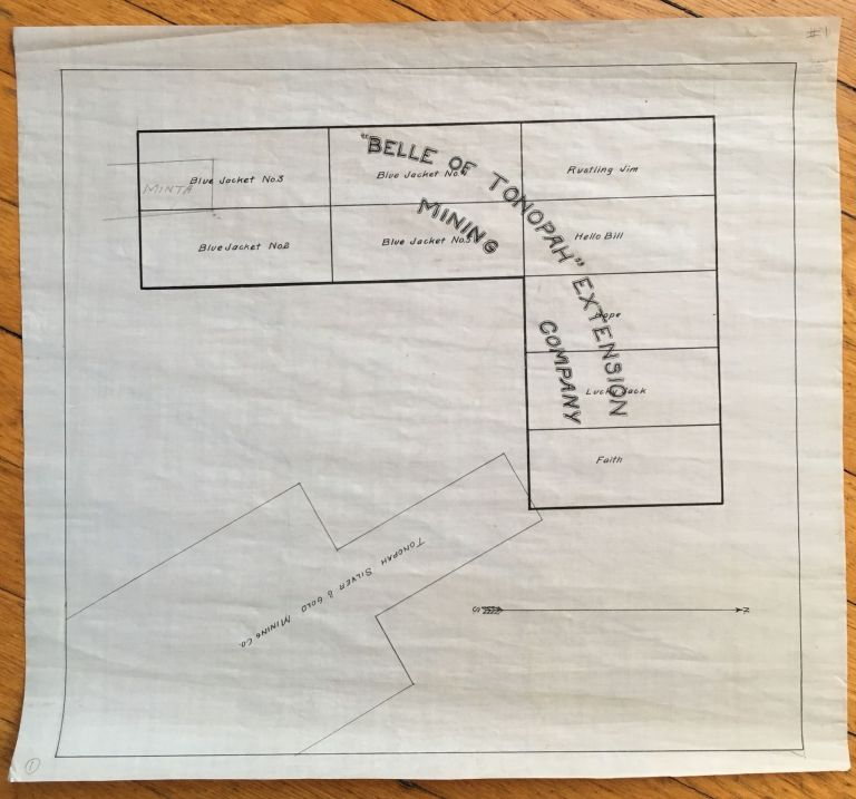 [Map of the Belle of Tonopah Extension Mine]. Nevada.