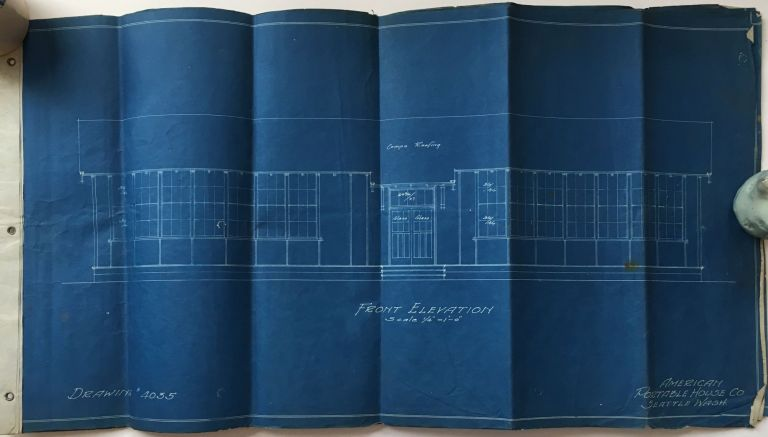 [Blueprints for an Early Portable School House, Designed by a Washington Company]. American Portable House Co.