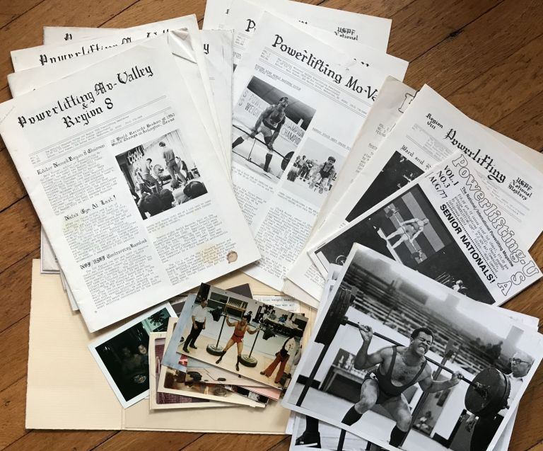 [Archive of African-American Powerlifter, Nate Foster, with Photographs and Nine Issues of Powerlifting Mo-Valley Newsletter]. African-Americana, Nate Foster.
