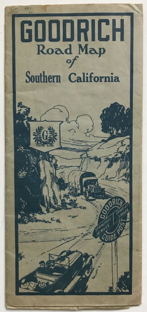 Goodrich Road Map of Southern California [caption title]. California.