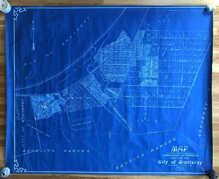 Map Showing Subdivisions of Property East of the City of Monterey, Monterey County Cal. [caption title]. California, Real Estate.