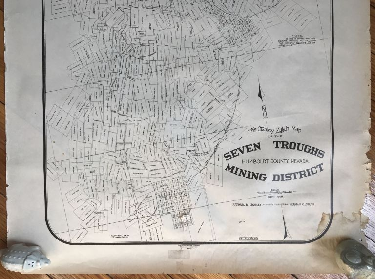 The Crosley Zulch Map of the Seven Troughs Mining District, Humboldt County, Nevada [caption title]. Nevada, Mining.
