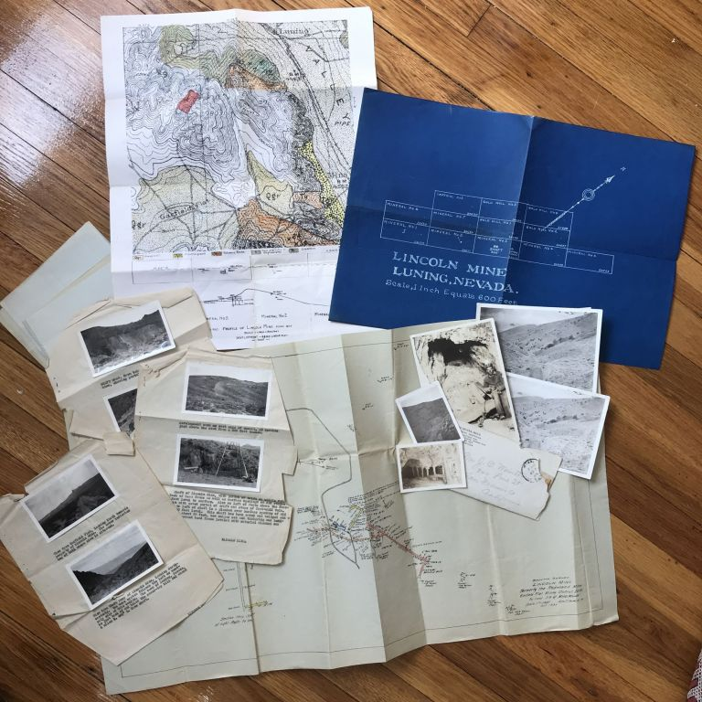 [Small Group of Materials Relating to the Lincoln Mine in Mina, Nevada]. Nevada, Mining.