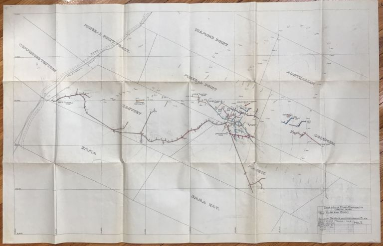 [Tunnel and Surface Map of Mineral Point Mine, near Osburn, Idaho]. Coeur D'Alene Mines Corporation.