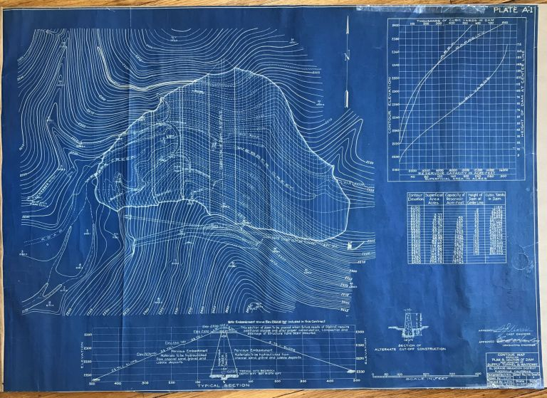 [Five Large Blueprints of Early Depression-Era Weber Dam Modifications]. California, Weber Creek Dam.