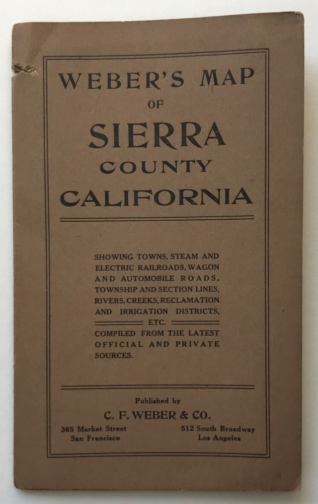 Weber's Map of Sierra County California [cover title]. California.