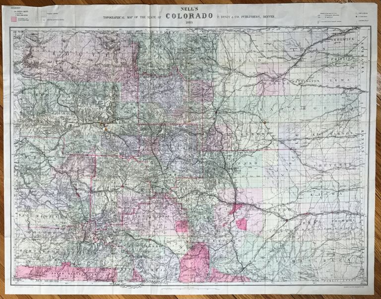 Nell's Topographical Map of the State of Colorado [caption title]. Colorado.