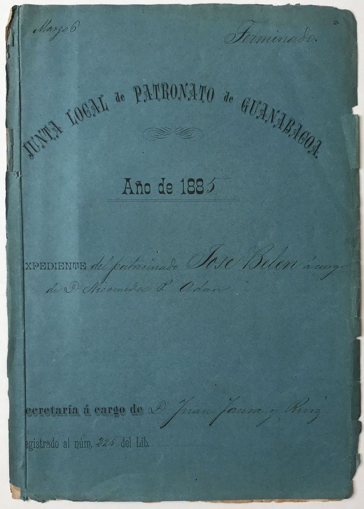 [Manuscript Documents Relating to an 1885 Legal Claim by a Cuban Slave for His Manumission]. Cuba, Slavery.