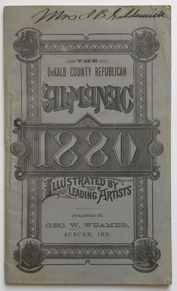 The DeKalb County Republican Almanac for the Year 1880. Illustrated by Darley, Davis, Moran, Hows, Woodward, and Other Celebrated Artists. Indiana, Thomas Moran.