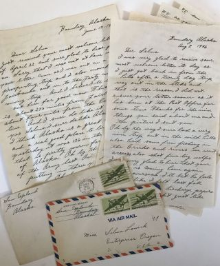 Large Archive of Letters Documenting the Life of a Trapper and Miner in Mid-Century Alaska]. Sam...