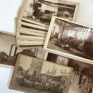 Fourteen Boudoir Card Photographs Depicting the Aurora Iron Works and Its Workers]. Illinois,...