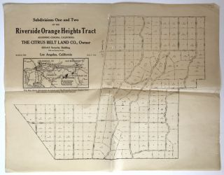 Subdivisions One and Two of the Riverside Orange Heights Tract Adjoining Corona, California....