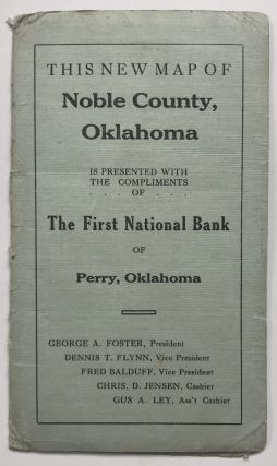 Map of Noble County, Oklahoma. Oklahoma