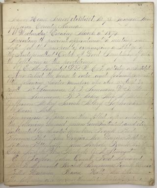 Manuscript Minutes of the Independent Order of Good Templars of Sarcoxie Township, Kansas, Lodge...