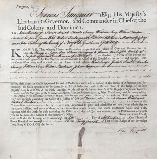 Printed Document, Completed in Manuscript, Appointing Judges in the Trial of a Black Man, Signed...