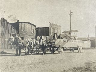"Photograph of a San Antonio Parade Float Labeled ""For Our Boys at the Front"" and Featuring a..."