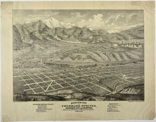 Birds Eye View of Colorado Springs, Colorado City and Manitou, on the Line of the Denver & Rio...