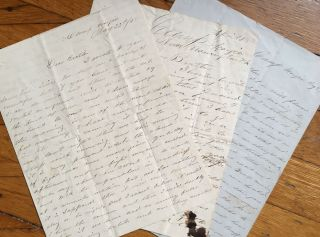 Three Autograph Letters About the Confederate Defense of Pensacola in April and May 1861]. Civil...