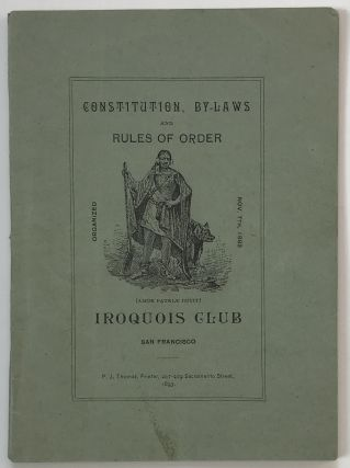 Iroquois Club of San Francisco. Headquarters: 909 Market Street. California, Political Clubs