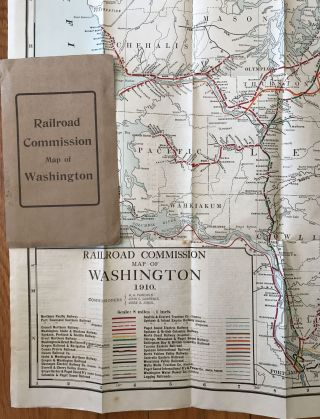 Railroad Commission Map of Washington. 1910. Washington