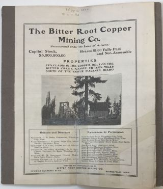 The Bitter Root Copper Mining Co.
