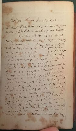 [Lengthy Manuscript Volume of 18th-Century University Theology Lectures, Written in Shorthand]