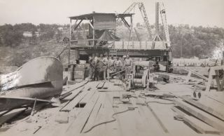Group of Thirty-Five Real Photo Post Cards Chronicling Construction of the Bagnell Dam in...