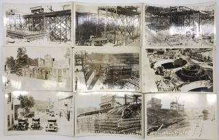 [Group of Thirty-Five Real Photo Post Cards Chronicling Construction of the Bagnell Dam in Depression-Era Missouri]