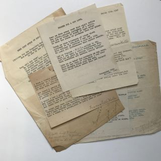 Five Original Typed Poems, Signed, and One Typed Letter, Signed by Illinois Poet Francesca Falk...