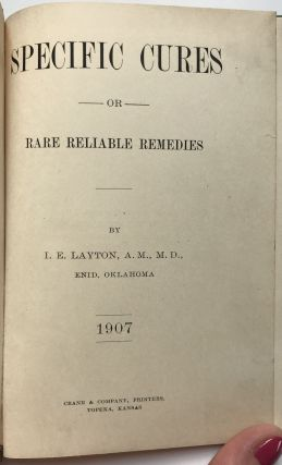 Specific Cures or Rare Reliable Remedies