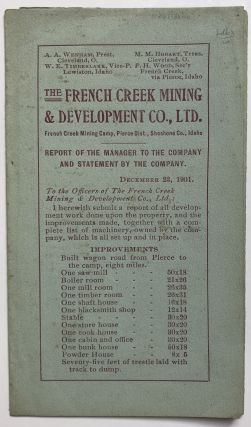 The French Creek Mining & Development Co., Ltd. [caption title]. Idaho, Mining