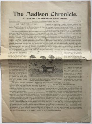 The Madison Chronicle. Illustrated Anniversary Supplement. Nebraska