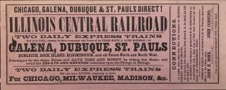 Chicago, Galena, Dubuque & St. Pauls Direct! Illinois Central Railroad [caption title]. Illinois,...