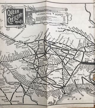 Queen & Crescent Route Going West and Southwest. The Direct and Quick Line Is the Queen &...