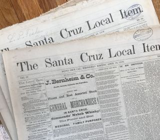 The Santa Cruz Local Item. California Newspapers